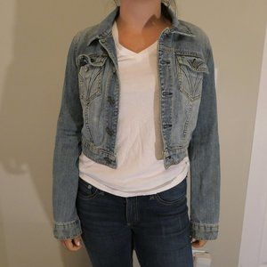 Juicy Couture Cropped Denim Jacket